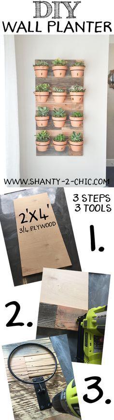 DIY Wall Planter – as seen on HGTV's Open Concept