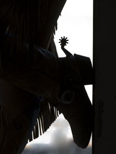 Cowgirl's Boot Silhouette, Flitner Ranch, Shell, Wyoming,  by Carol Walker
