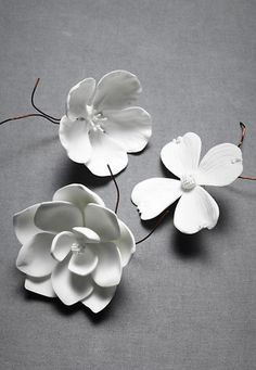 white porcelain flowers Porcelain Bloom -   Who says you can't decorate with flowers in winter? These porcelain beauties are in full bloom year-round.