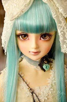 Ball jointed doll in lace