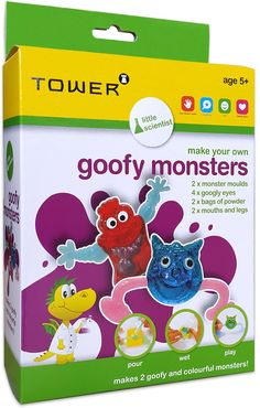 Use your creativity and make your own goofy and colourful monsters! Office Organisation, Make Your Own, How To Make, South Africa, Monsters, Creativity, Tower, World, Kids