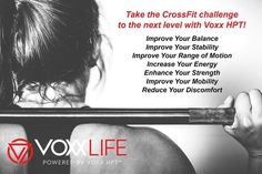 Want more out of your workout? Better balance, strength, power, range of motion, and more? VoxxLife HPT has you covered. Get the tech! Crossfit Challenge, Drug Free, Range Of Motion, Pain Relief, Drugs, Improve Yourself, Investing, Strength, Learning