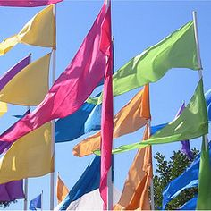 Festival flags will line the beach creating plenty of colour whilst adding to the decor