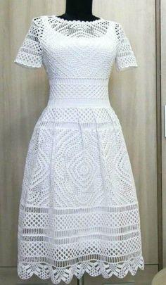 Fabulous Crochet a Little Black Crochet Dress Ideas. Georgeous Crochet a Little Black Crochet Dress Ideas. Knit Dress, Dress Skirt, Lace Dress, Mode Crochet, Crochet Lace, Crochet Summer, Filet Crochet, Dress Patterns, Clothing Patterns