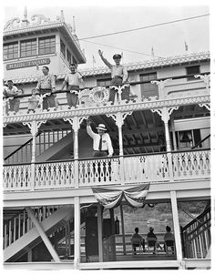 Early history of disneyland in pictures disney disneyland mcl personnel at disneyland operator supervisor on mark twain board ride publicscrutiny Choice Image