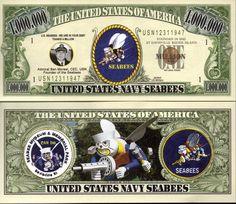United States Navy Fighting Seabees Million Dollar Bill