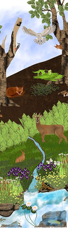 Wald Art World, Aquarium, Natural, Instagram, Party, Sheep Illustration, Woodland Forest, Friends, Creative