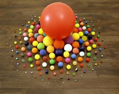 Tom Friedman  Untitled  1992  Stolen balls  20 x 36 inches    —    About 200 balls, stolen by the artist over a six-month period