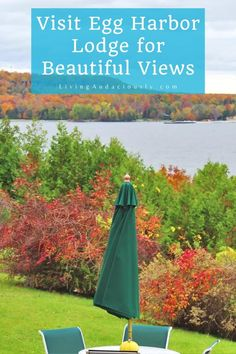 Visit Egg Harbor Lodge in Door County, Wisconsin for beautiful fall colors! #doorcounty #autumn #wisconsin #lodging #hotel