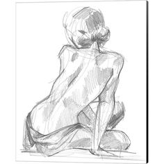 """Giant Art 54 in. x 72 in. """"""""Sitting Pose II"""""""" by Jennifer Paxton Parker Wall Art, Multi Sitting Pose Reference, Art Reference Poses, Anatomy Reference, Figure Sketching, Figure Drawing Reference, Sketch Poses, Drawing Poses, Body Sketches, Art Sketches"""