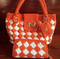 Tina's handicraft : bag tunisian crochet stiitch                                                                                                                                                                                 More