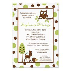 baby shower woodland animal theme   5x7 Forrest Woodland Animal Baby Shower Invitation from Zazzle.com