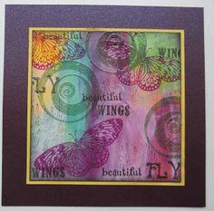 De Stempelwinkel - Designteam      : Art journal kaart.