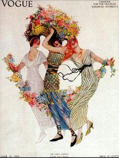 Vintage Vogue Fashion Prints   Vintage Vogue Magazine Cover Art, Fashion Print, Roaring 20s, 1920's ...