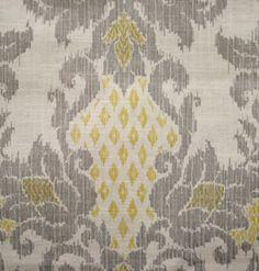 yellow & gray patterned table runner La Tavola