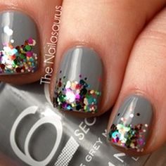 Cute. I could do this. I wish I could find a medium gray without glitter in it like this.