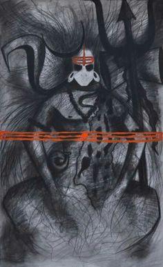 Shiva Mahakal Shiva, Shiva Art, Old Paintings, Indian Paintings, Trishul, Om Namah Shivay, Pagan Gods, Shiva Tattoo, Lord Shiva Painting