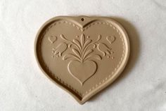 Vintage Brown Bag Cookie Mold - Pennsylvania Dutch Style Folk Heart - 1986 by…