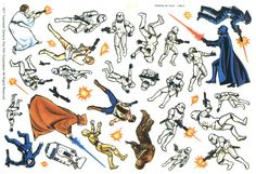 Star Wars Letraset Transfers (1978) Probably the first piece of Star Wars ephemera (in any form) I ever encountered.