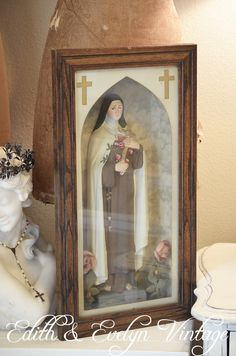 Antique St Therese Shrine Shadow Box by edithandevelyn on Etsy, $195.00