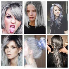 GRAY HAIR.... DON'T CARE? Gray hair inspiration at hairbyhal.com