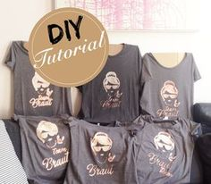 DIY Bleaching T-Shirt Tutorial <3 Der JGA steht bevor und ihr braucht noch coole T-Shirts für die Mädels? Mit diesem Tutorial gestaltet ihr ganz individuelle und einzigartige Bleaching T-Shirts für den Junggesellinnenabschied (JGA) / die Brautparty: http://wedding-board.de/diy-bleaching-shirt/
