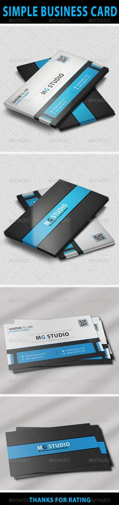 Simple Business Card Features:  • Easy to edit.  • Optimized for printing / 300 Dpi.  • CMYK color mode.  • 3.5×2 inch dimension.  • 0.25 Bleed.  • Help Guide Included.  • Adobe photoshop CS6 version.