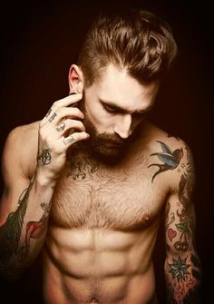 My weakness: Beards and tatts