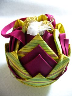 Easter egg #2 made with fabric by my mom