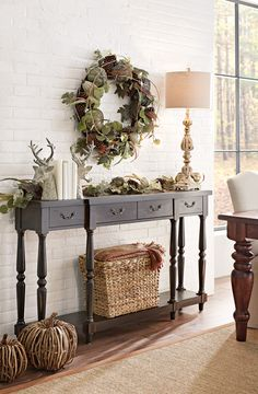 Vintage French Soul ~ Introduce fall into your home with the easy addition of a wreath. Its natural…
