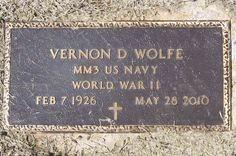 Vernon D Wolfe (1926 - 2010) - Find A Grave Photos
