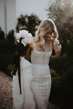 Next Post Previous Post Real wedding Bride Wears Pallas Couture Pallas Couture, How To Dress For A Wedding, Best Wedding Dresses, Wedding Gowns, Couture Wedding Dresses, Sheath Wedding Dresses, Sheath Dress, Midnight Blue Bridesmaid Dresses, Yellow Bridesmaids