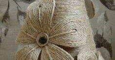 Aprende  como hacer flores usando cuerda, lana o estambre para aplicarlas en diversas decoraciones con estilo rústico. Utiliza estas bellas...