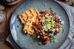 Knuspriger Tofu aus dem Waffeleisen - welch geniale und einfache Idee!!!