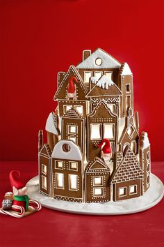 Gingerbread Villagewomansday Easy Gingerbread House, Gingerbread Christmas Decor, Gingerbread House Designs, Gingerbread Village, Gingerbread Decorations, Christmas Sweets, Christmas Baking, Gingerbread Cookies, Christmas Cookies