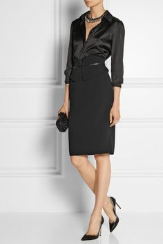 Gucci perfect peplum-effect stretch-cady pencil skirt