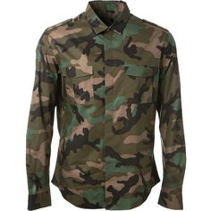 Valentino Embroidered Camo Printed Cotton Shirt ($2,025) ❤ liked on Polyvore featuring men's fashion, men's clothing, men's shirts, men's casual shirts, mens longsleeve shirts, mens camouflage shirts, mens cotton shirts, mens long sleeve shirts and mens embroidered shirts