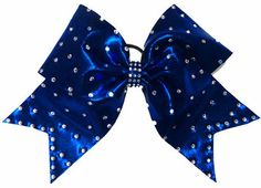 Large Royal Blue Rhinestones Mystique Cheer Bow