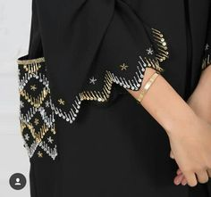 Subhan Abayas @ with احلىلى ع ع you can find similar pins below. We have brought the best. Hand Embroidery Dress, Bead Embroidery Patterns, Couture Embroidery, Embroidery Fashion, Abaya Designs, Blouse Designs, Abaya Fashion, Fashion Outfits, Fashion Shoot