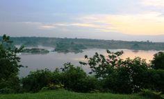 Camping on the Nile in Uganda
