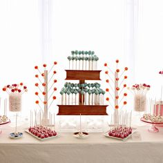 Brides.com: 31 Alternatives to the Classic Wedding Cake A three-tiered cake pop stand, made up of flavors like spice cake, lemon, and red velvet, created by Sweet Lauren Cakes.Photo: Courtesy of Sweet Lauren Cakes