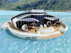 Solar powered floating resort has designed completely self-sufficient floating resort that is part hotel, part yacht, and part submarine.Guests of the solar powered luxury resort will stay in comfortable hotel rooms with private bathrooms.Fully submerged observation room with thick glass enclosure will provide panoramic views of the ocean and allow people to take beautiful photos.   Join --> Amazing Facts for more :)