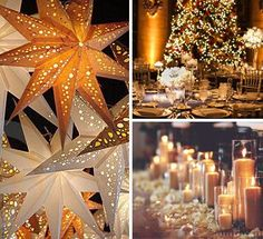 Glitzy Secrets explores fabulous festive lighting ideas for a Christmas Wedding from aisle candles and table decor to twinkling fairy lights.