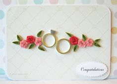 Paper Quilled Wedding Anniversary Rings Card by QuillyNilly