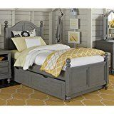 NE Kids Lake House Payton Twin Arch Bed with Trundle in Stone deals week
