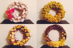 DIY // autumn wreaths // Rivers and Roads Blog