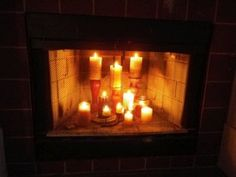 Candles In A Fireplace we are doing this just have to find time to buy all the candles