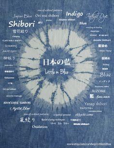 Shibori / Natural indigo dye / Japan Blue (Little m Blue)
