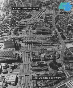 Hollywood Freeway model plans for construction, circa late Downtown Los Angeles, CA California History, Hollywood California, Southern California, Mary Pickford, San Fernando Valley, Beautiful Streets, City Of Angels, Downtown Los Angeles, Urban Life
