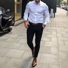Men with class cc: menwithclass casual outfits for Formal Men Outfit, Casual Wear For Men, Mens Fashion Wear, Classy Mens Fashion, Feminine Fashion, Style Masculin, Trunks Underwear, Man Dressing Style, Shirt Tucked In